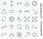 set of 25 transparent icons... | Shutterstock .eps vector #1157043790