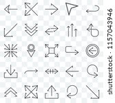 set of 25 transparent icons... | Shutterstock .eps vector #1157043946
