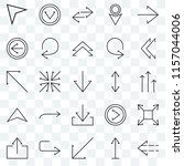 set of 25 transparent icons... | Shutterstock .eps vector #1157044006