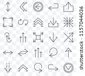 set of 25 transparent icons... | Shutterstock .eps vector #1157044036