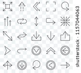 set of 25 transparent icons... | Shutterstock .eps vector #1157044063