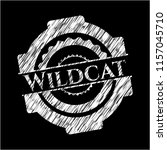 wildcat on chalkboard | Shutterstock .eps vector #1157045710