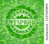 offspring green emblem with... | Shutterstock .eps vector #1157045893