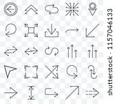 set of 25 transparent icons... | Shutterstock .eps vector #1157046133