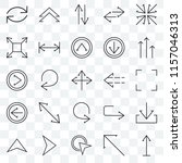 set of 25 transparent icons... | Shutterstock .eps vector #1157046313