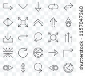set of 25 transparent icons... | Shutterstock .eps vector #1157047360