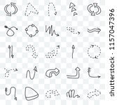 set of 25 transparent icons... | Shutterstock .eps vector #1157047396