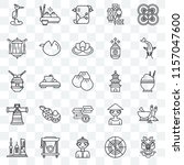 set of 25 transparent icons... | Shutterstock .eps vector #1157047600