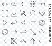 set of 25 transparent icons... | Shutterstock .eps vector #1157047606