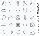 set of 25 transparent icons... | Shutterstock .eps vector #1157048566