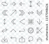 set of 25 transparent icons... | Shutterstock .eps vector #1157048626
