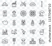 set of 25 transparent icons... | Shutterstock .eps vector #1157048710