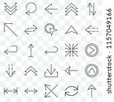 set of 25 transparent icons... | Shutterstock .eps vector #1157049166