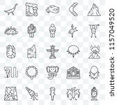 set of 25 transparent icons... | Shutterstock .eps vector #1157049520