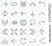 set of 25 transparent icons... | Shutterstock .eps vector #1157049523