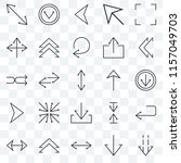set of 25 transparent icons... | Shutterstock .eps vector #1157049703