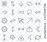 set of 25 transparent icons... | Shutterstock .eps vector #1157049736