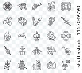 set of 25 transparent icons... | Shutterstock .eps vector #1157049790