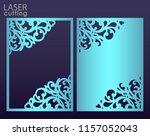 laser cut paper greeting card... | Shutterstock .eps vector #1157052043