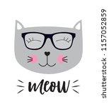 little cute cat  illustration  | Shutterstock . vector #1157052859
