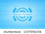 genuine product light blue... | Shutterstock .eps vector #1157056156