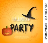 halloween party invitation.... | Shutterstock .eps vector #1157061730