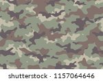 camouflage seamless pattern.... | Shutterstock .eps vector #1157064646