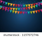 party background with flags ...   Shutterstock . vector #1157072746