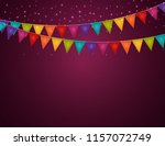 party background with flags ... | Shutterstock . vector #1157072749