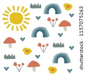 abstract childish pattern with...   Shutterstock .eps vector #1157075263