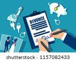 divorce and property divison... | Shutterstock .eps vector #1157082433