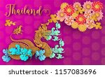 thailand ancient luxury concept ...   Shutterstock .eps vector #1157083696