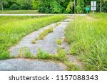 overgrown bike trail at the...   Shutterstock . vector #1157088343