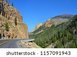 bunsen peak trail. yellowstone...   Shutterstock . vector #1157091943
