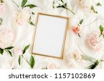 gold frame decorated of... | Shutterstock . vector #1157102869