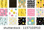 trendy vector seamless colorful ... | Shutterstock .eps vector #1157103910