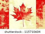 Grunge Textured Canadian Flag....