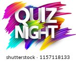 quiz night poster. colorful... | Shutterstock .eps vector #1157118133