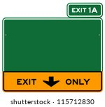 exit only sign   green and... | Shutterstock .eps vector #115712830