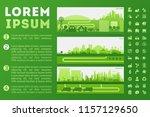 city skyline illustration | Shutterstock .eps vector #1157129650