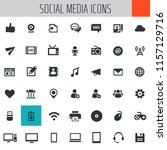big social media icon set | Shutterstock .eps vector #1157129716