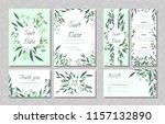 eucalyptus design. wedding... | Shutterstock .eps vector #1157132890