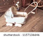 antique baby buggy   Shutterstock . vector #1157136646