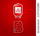 blood bag type b red color and... | Shutterstock .eps vector #1157141080