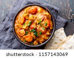indian food. rogan josh curry... | Shutterstock . vector #1157143069