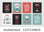 christmas market  happy new... | Shutterstock .eps vector #1157154823