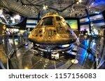 the apollo 11 command  module ... | Shutterstock . vector #1157156083