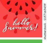 watermelon slice composition  ...   Shutterstock .eps vector #1157165659