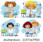 a set of chemist on white... | Shutterstock .eps vector #1157167903