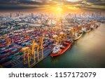 logistics and transportation of ... | Shutterstock . vector #1157172079